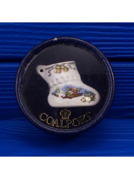 Елочная игрушка Coalport из фарфора в подарочной коробочке #4