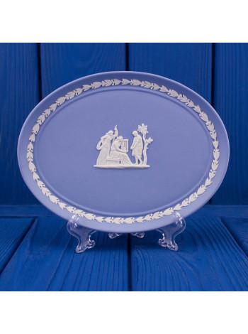 Блюдо из фарфора Wedgwood голубой Jasper, фарфор