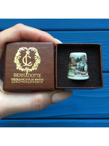 Коллекционный винтажный наперсток из Чехословакии от Bernadotte