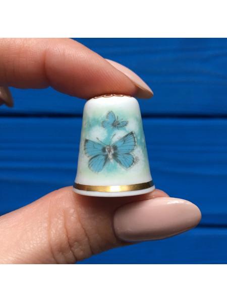 Наперсток Spode с изображением прелестных бабочек