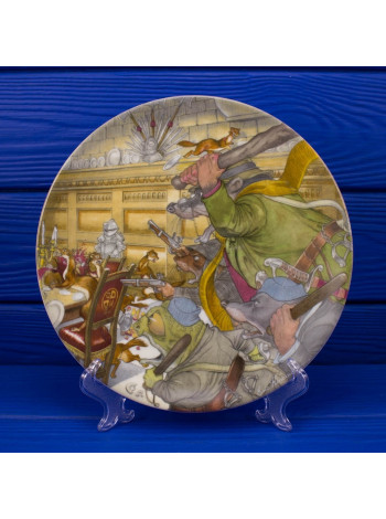"Тарелка Wedgwood THE FOUR HEROUES cерия ""Ветер в ивах"""