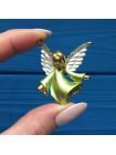 Брошь Ангел с кристаллами