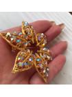 Брошь с кристаллами Aurora Borealis