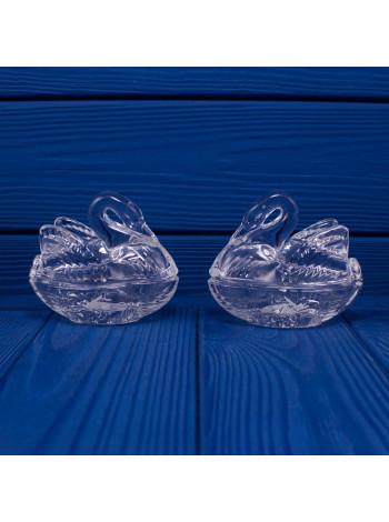Шкатулки Стеклянные Royal Crest в форме Лебедей