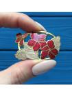 Брошь Fish с изображением ярких цветов