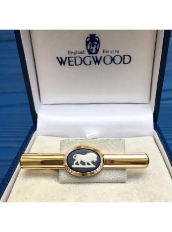 Зажим для галстука Wedgwood позолоченный