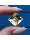 Элегантные винтажные запонки, выполненные из двух оттенков металла: под серебро и под золото