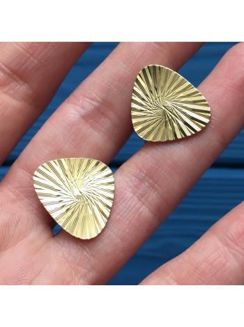 Запонки из металла золотого оттенка