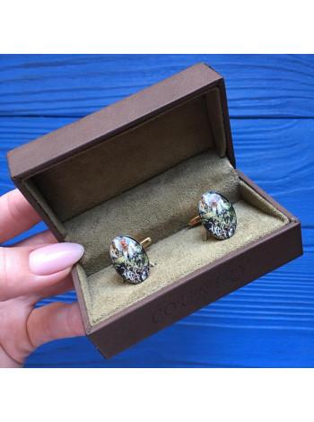 Запонки с изображением охотничьей сценки в оригинальной коробке