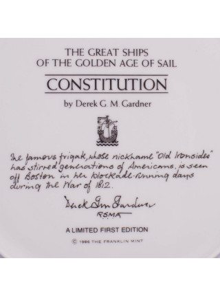 "Тарелка Franklin Mint ""CONSTITUTION"""