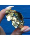 Брошь с крупным кристаллом #3