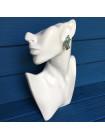 Очаровательные винтажные клипсы с кристаллами небесно-голубого цвета