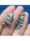 Клипсы, украшенные искристыми кристаллами