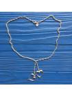 Нежное серебряное ожерелье с подвесками в форме сердец от Laura Ashley