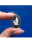 Редкая подвеска Wedgwood - черный джаспер в серебре на серебряной цепочке