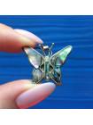 Нежная подвеска в форме бабочки с перламутром на серебряной цепочке