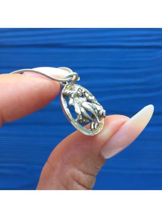 Подвеска из английского серебра на серебряной цепочке