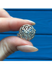 Редкий серебряный винтажный чарм в форме открывающегося кувшинчика