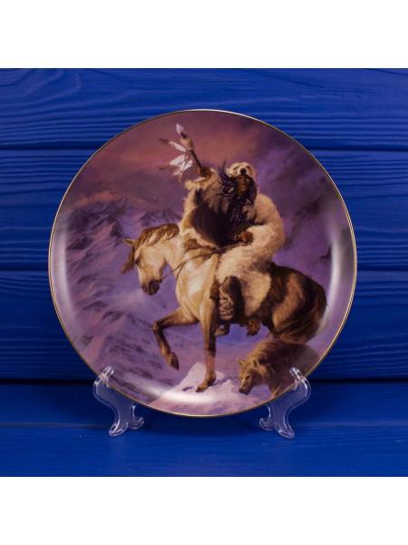 "Тарелка Franklin Mint qa5881 ""Spirit Of The North Wind"""