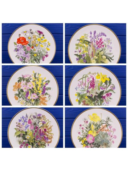 Полная коллекция из 6-ти фарфоровых тарелок Caverswall