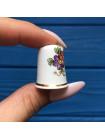Наперсток STAFFORDSHIRE с изображением цветов