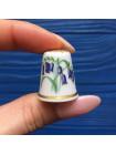 "Коллекционный напёрсток Spode - Коллекция Цветок Года 1987 ""BLUEBELL"""