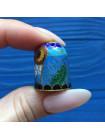 Коллекционный наперсток клуазоне сова #4