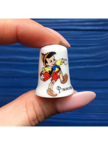 Коллекционный фарфоровый наперсток Пиноккио