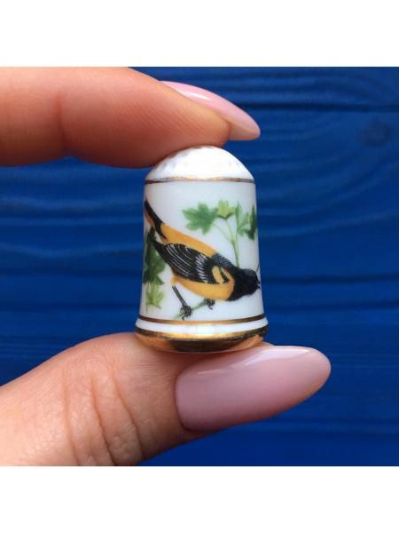 Наперсток Franklin Mint серия с изображением птиц с их латинским названием #2