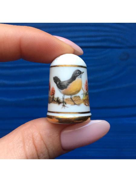 Наперсток Franklin Mint серия с изображением птиц с их латинским названием #5