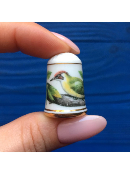 Наперсток Franklin Mint серия с изображением птиц с их латинским названием #3