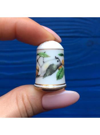 Наперсток Franklin Mint серия с изображением птиц с их латинским названием #6