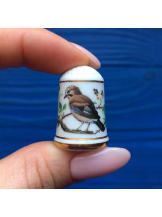 Наперсток Franklin Mint серия с изображением птиц с их латинским названием #7