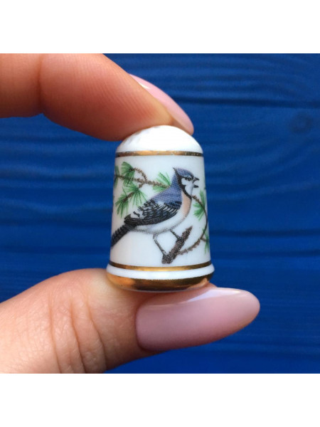 Наперсток Franklin Mint серия с изображением птиц с их латинским названием #8