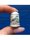 Наперсток Franklin Mint серия с изображением птиц с их латинским названием #9