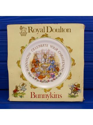 Коллекционная тарелка Royal Doulton BUNNYKINS в оригинальной коробочке