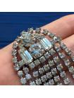 Винтажная брошь в стиле ар-деко с искристыми кристаллами