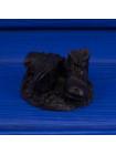 Фигурка оригинальных шахтерских ботинок, выполненная из угля