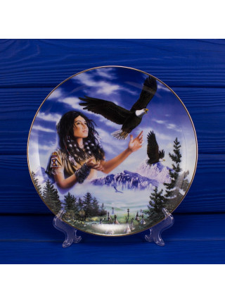 "Тарелка Franklin Mint ma1779 ""Maiden of the Majestic Eagle"" с сертификатом"