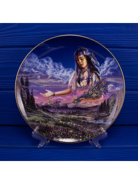 "Тарелка Franklin Mint ma5717 ""Maiden of the Sacred Range"""