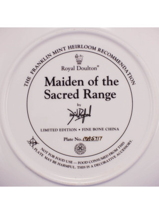 "Тарелка Franklin Mint ma5717 ""Maiden of the Sacred Range"""