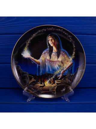 "Тарелка Franklin Mint ma6213 ""Maiden of the Mystical Fire"" с сертификатом"