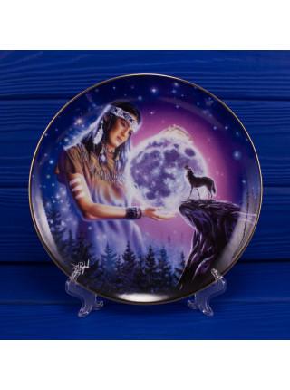"Тарелка Franklin Mint ma2591 ""Maiden of the Mystical Moon"" с сертификатом"