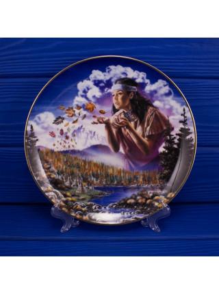 "Тарелка Franklin Mint ma4677 ""Maiden of the Autumn Winds"" с сертификатом"