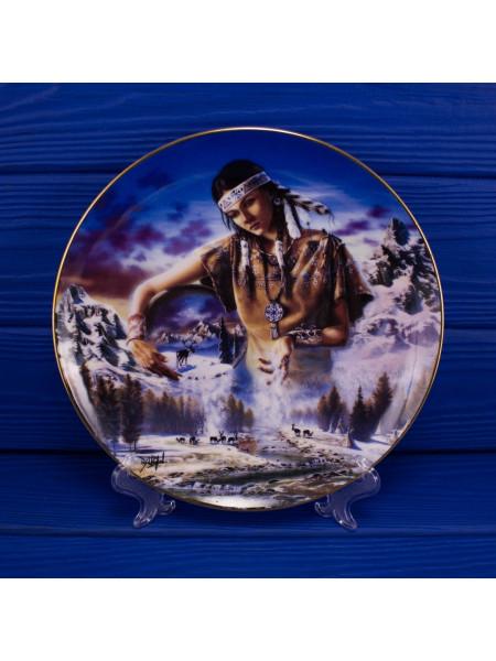 "Тарелка Franklin Mint ma2751 ""Maiden of the First Snowfall"" с сертификатом"