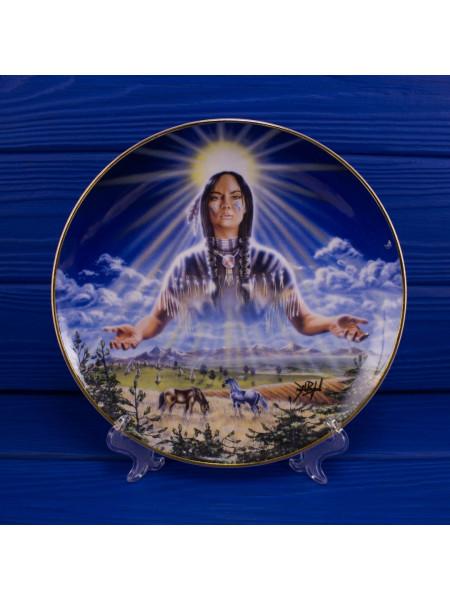 "Тарелка Franklin Mint ma6293 ""Sun Maiden"" с сертификатом"