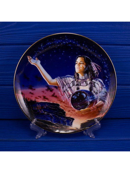 "Тарелка Franklin Mint ma4549 ""Maiden of the Evening Stars"""
