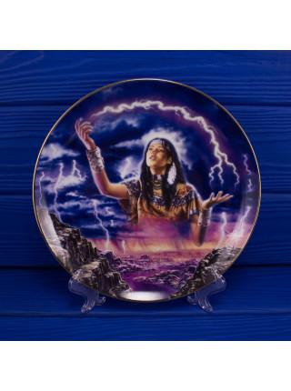 "Тарелка Franklin Mint ma4552 ""Maiden of the Mystical Lightning"" с сертификатом"