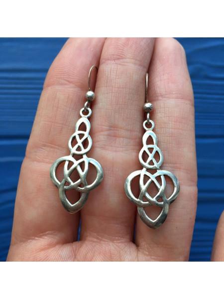 Серебряные серьги Kit Heath в кельтском стиле