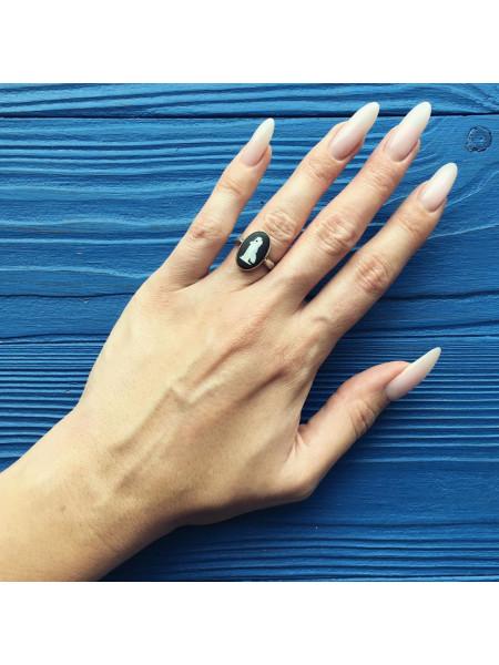 Кольцо Wedgwood чёрный Jasper